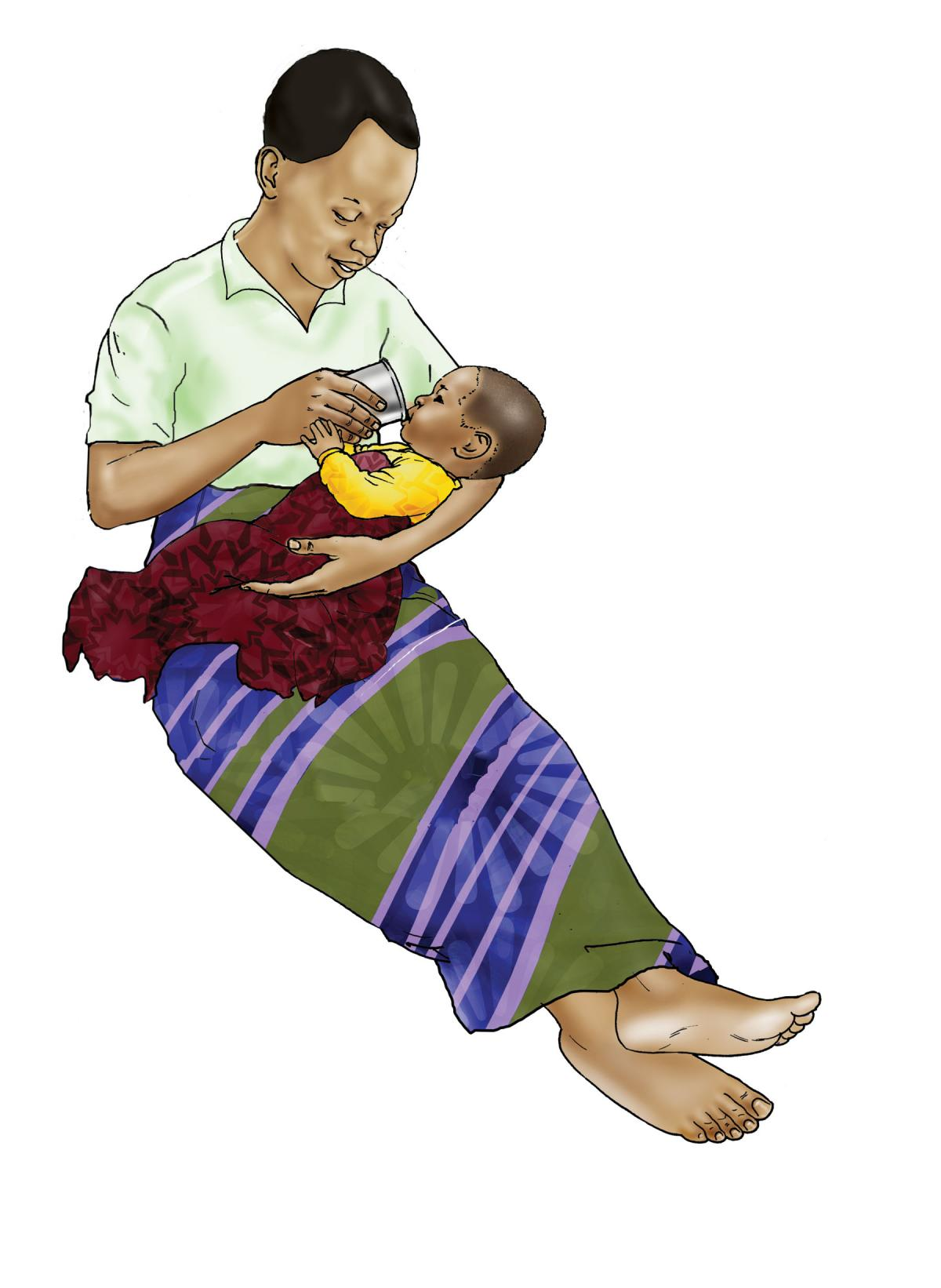 Cup Feeding - Cup feeding baby 6-24mo - 04 - Rwanda