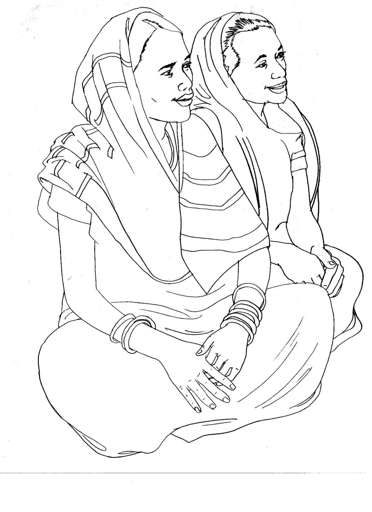 People - Women sitting - 01 - India