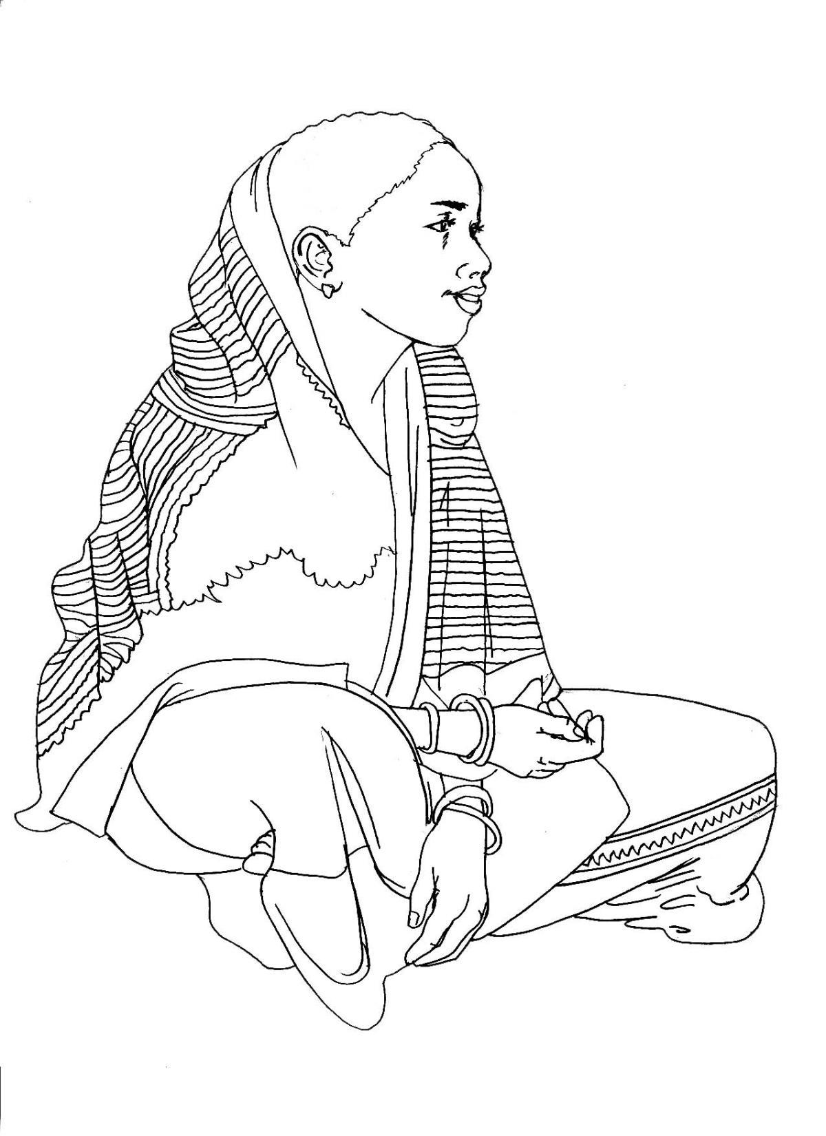 People - Woman sitting - 05 - India