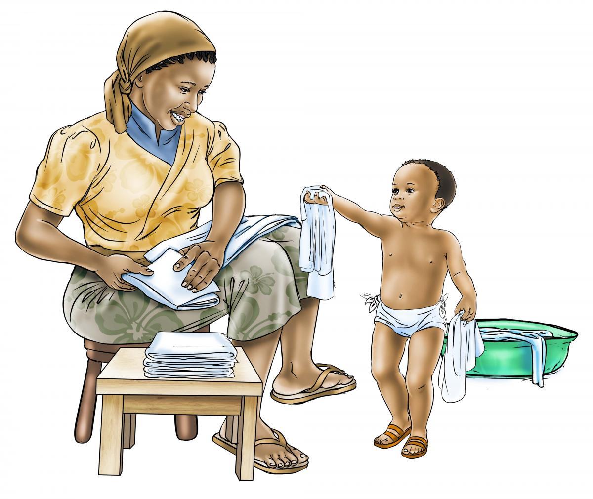 Hygiene - Changing diapers - 05 - Sierra Leone