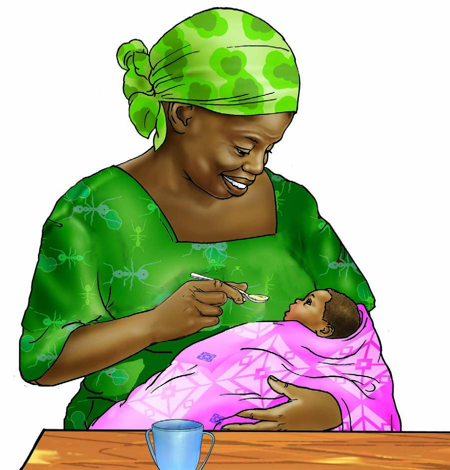 Cup Feeding - Grandmother cup feeding 6-9 mo - 05A - Nigeria