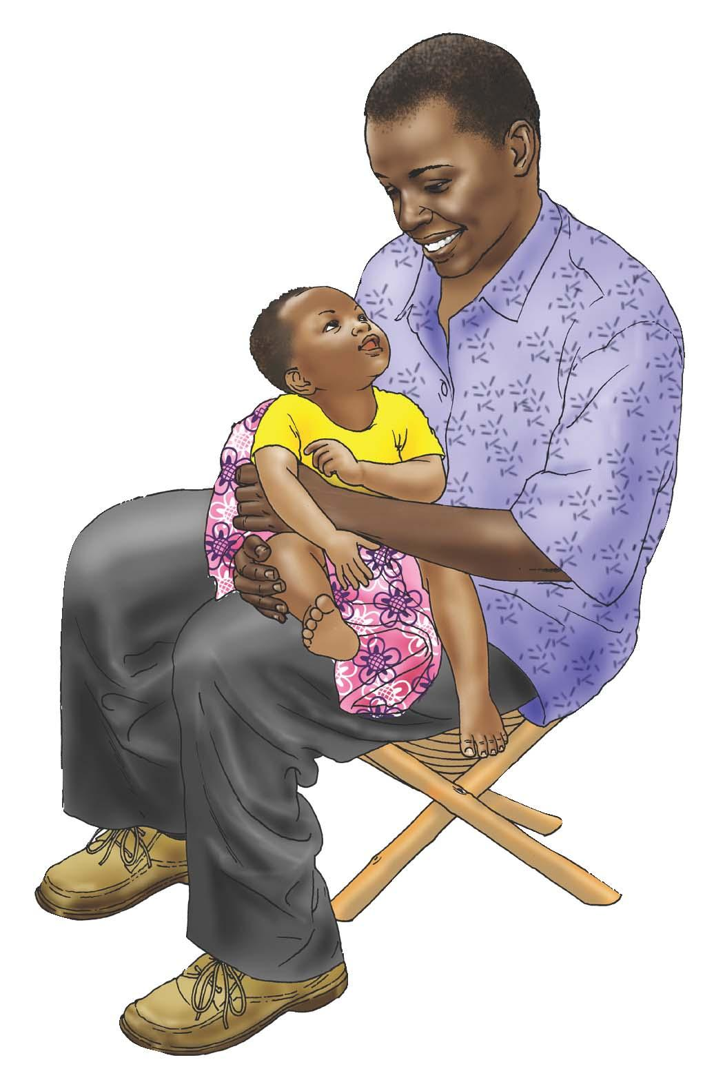 Father Support - Father taking care of child 6-9 mo - 01 - Nigeria