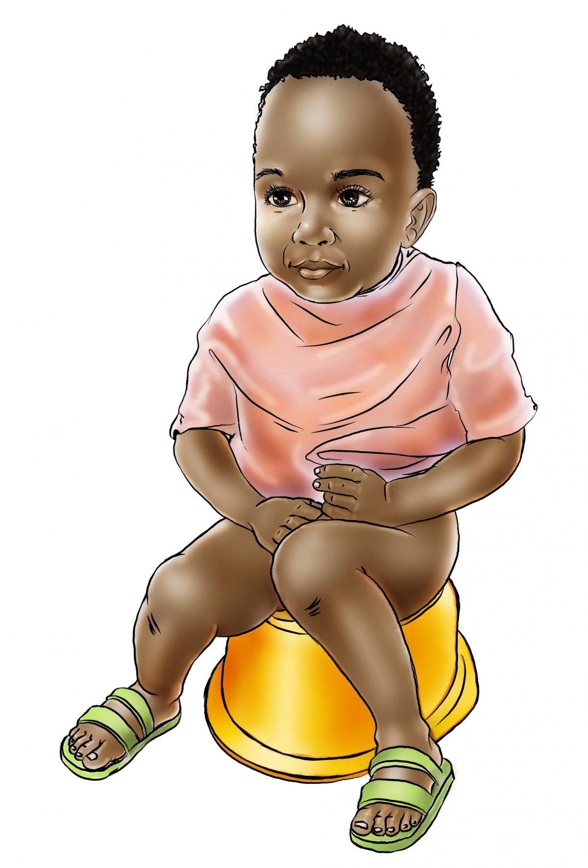 Hygiene - Child using toilet - 00 - Sierra Leone