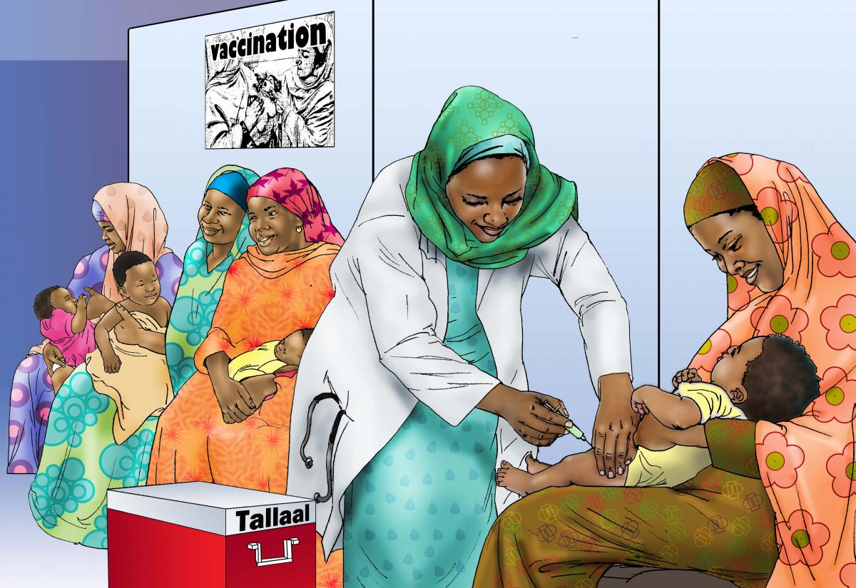 Baby health care - Children being vaccinated - 02 - Kenya Dadaab