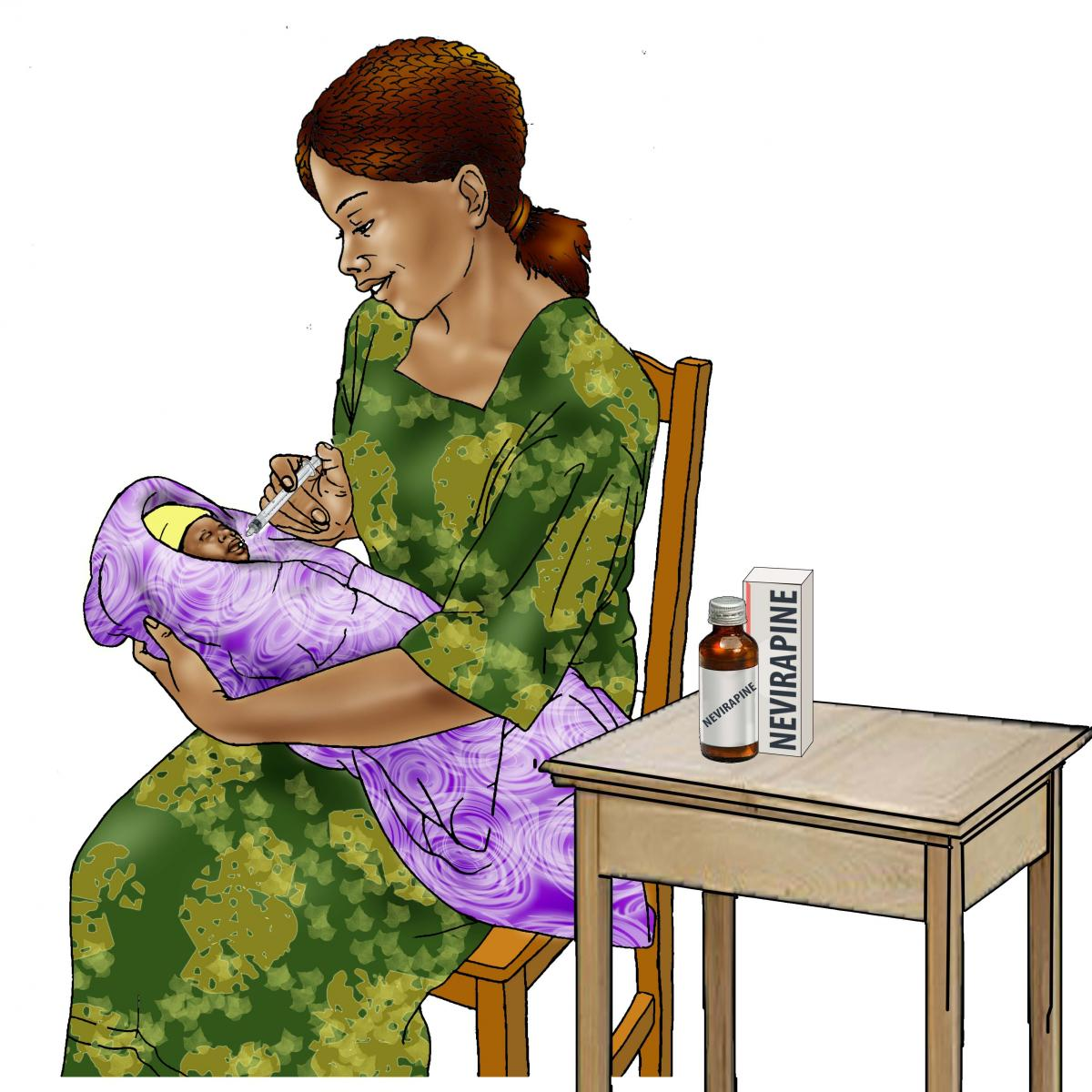 Sick Baby Health Care - Giving medicine to baby 0-24 mo - 03B - Non-country specific