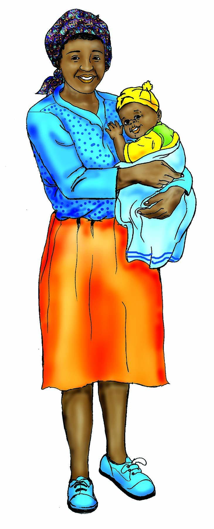 People - Mother and child - 00B - Zimbabwe