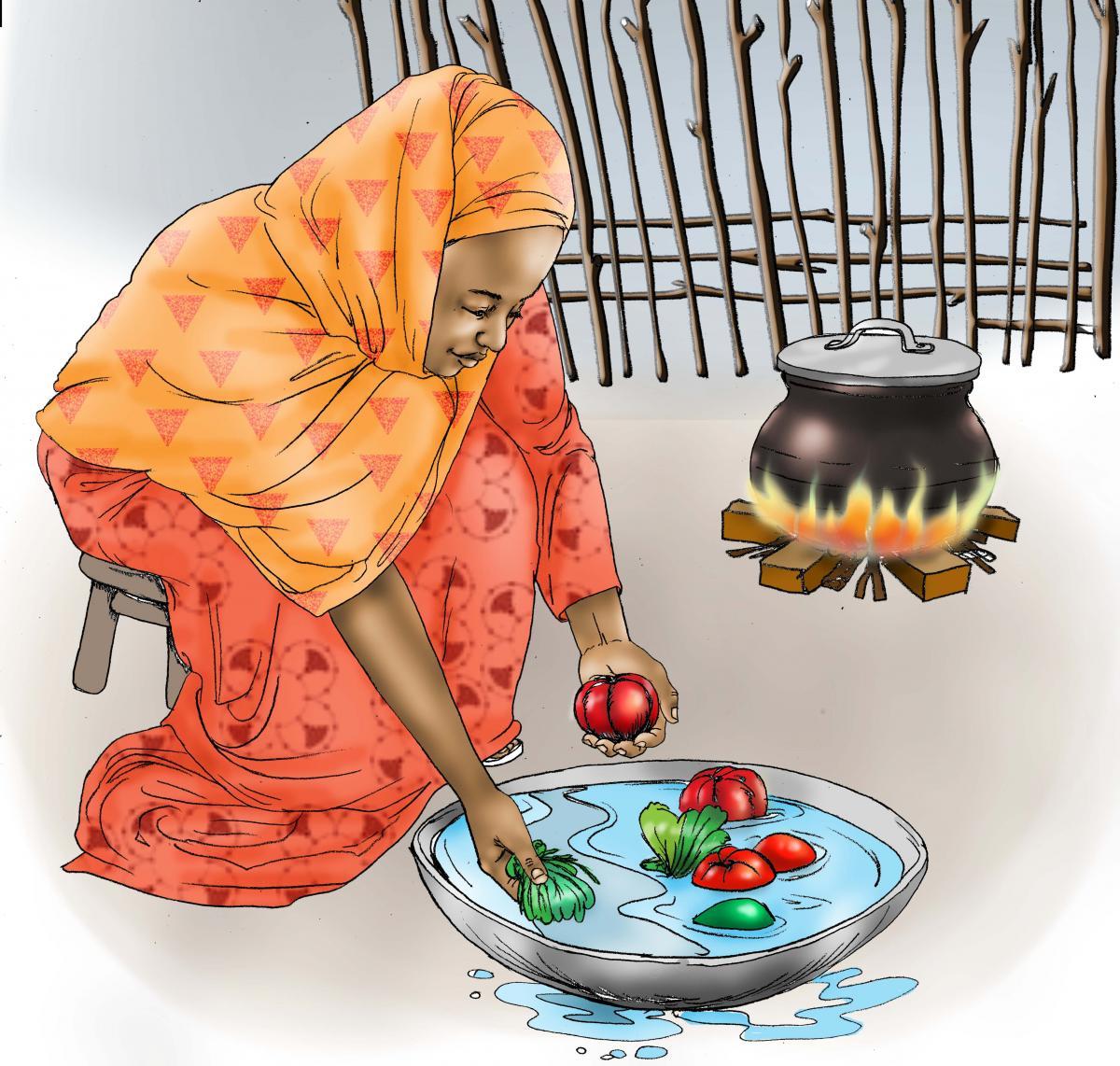 Food practices - Preparing vegetables - 00 - Kenya Dadaab