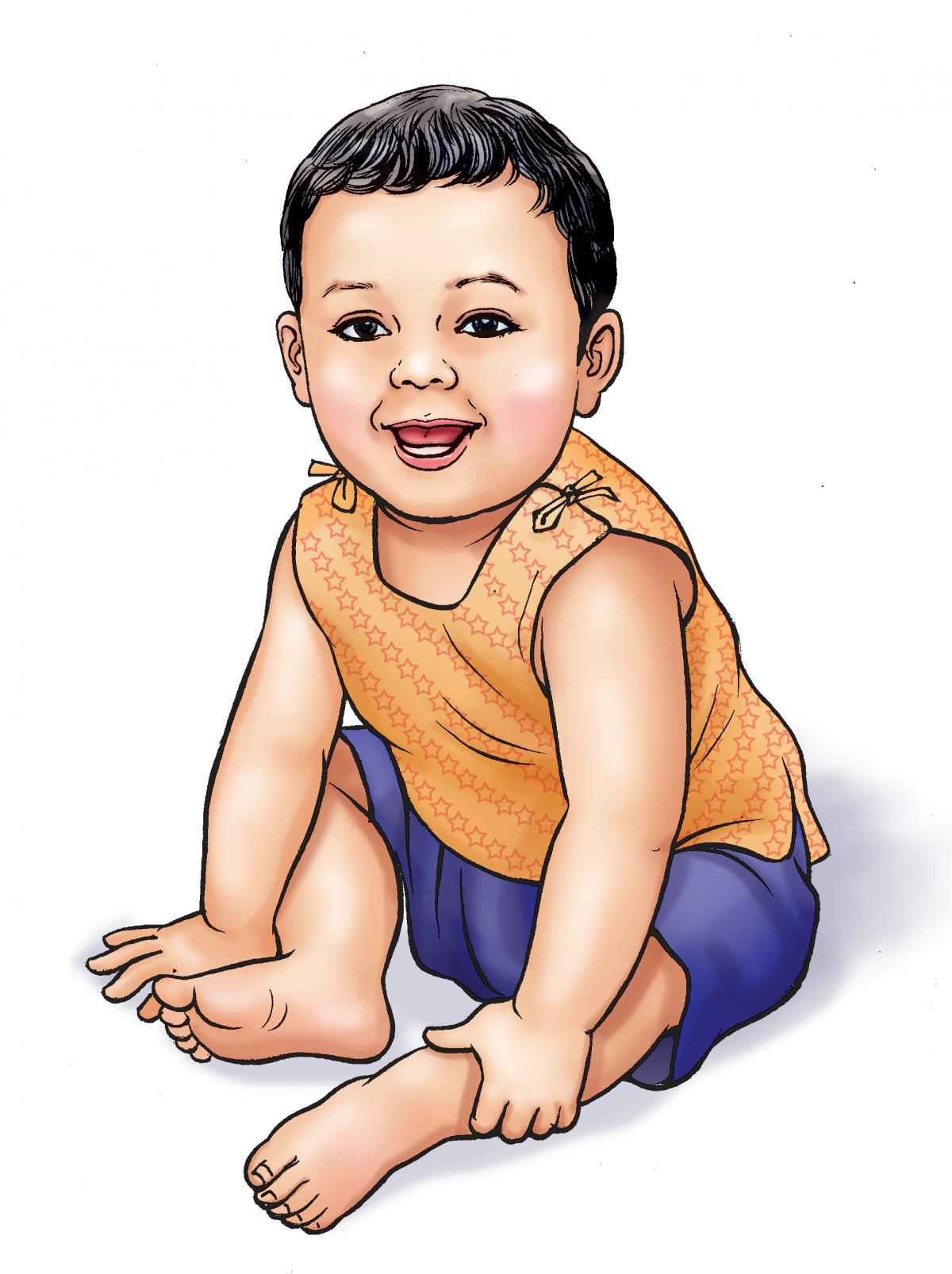 People - Healthy baby boy - 00A - Nepal