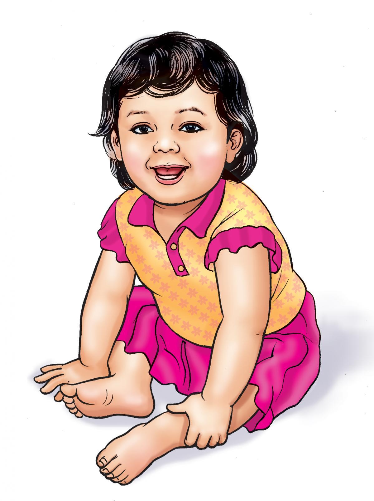 People - Healthy baby girl - 00B - Nepal