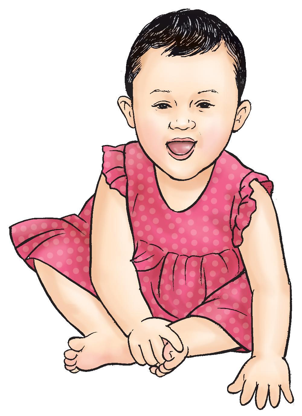 People - Healthy baby girl 9-12 mo - 01B - Nepal