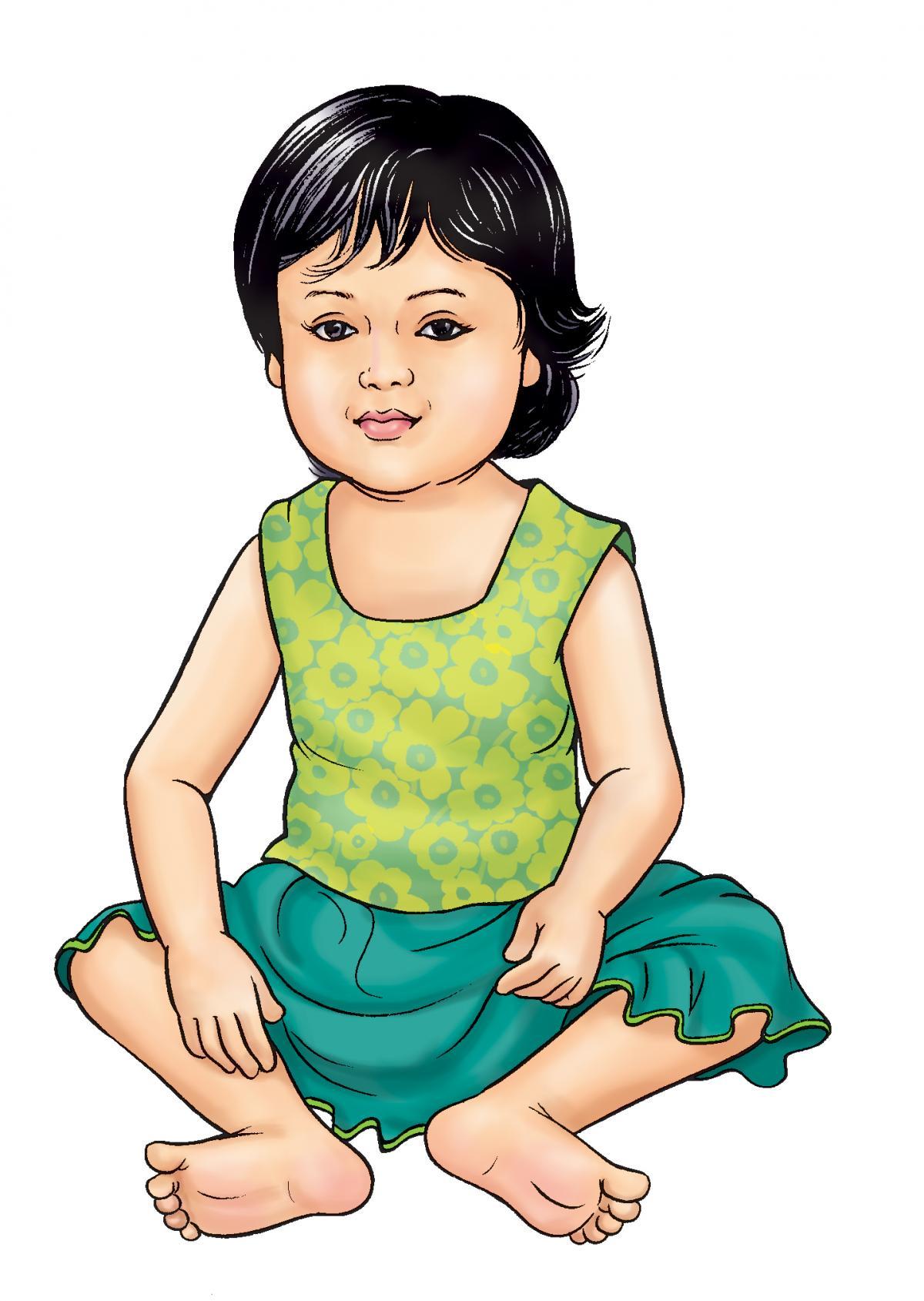 People - Healthy baby girl - 03B - Nepal