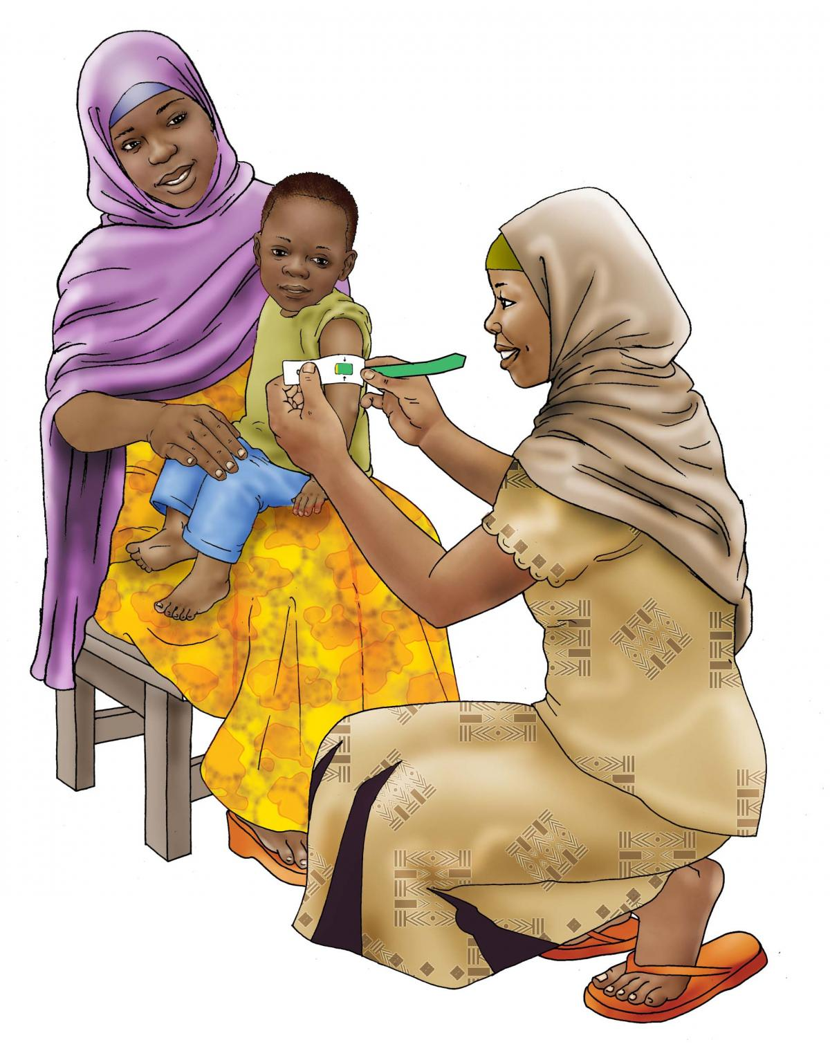 Baby Health Care - Measuring a child's arm 12-24 mo - 00 - Niger