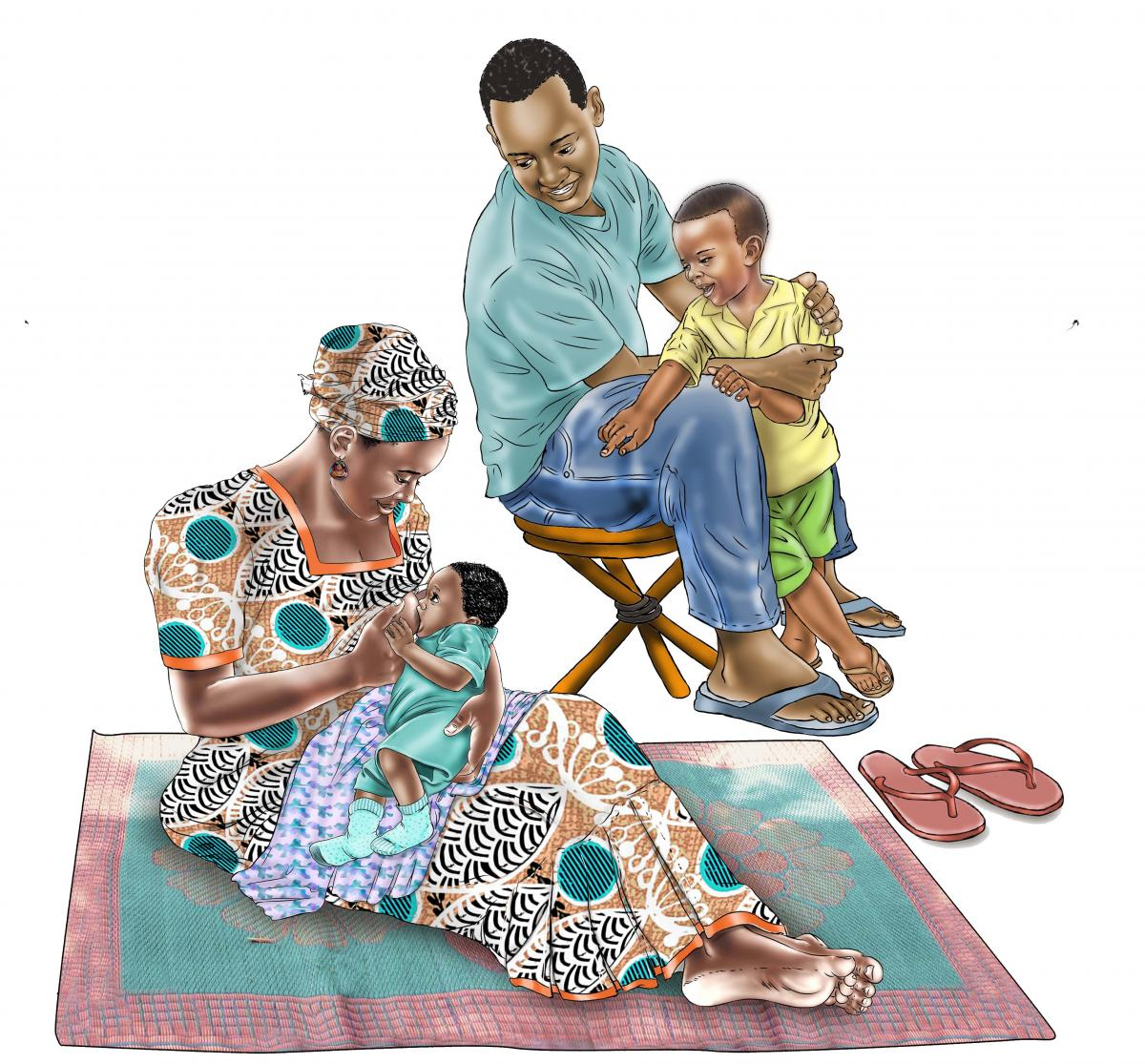 Family - Family Support for Breastfeeding 0-6 mo - 03 - Senegal