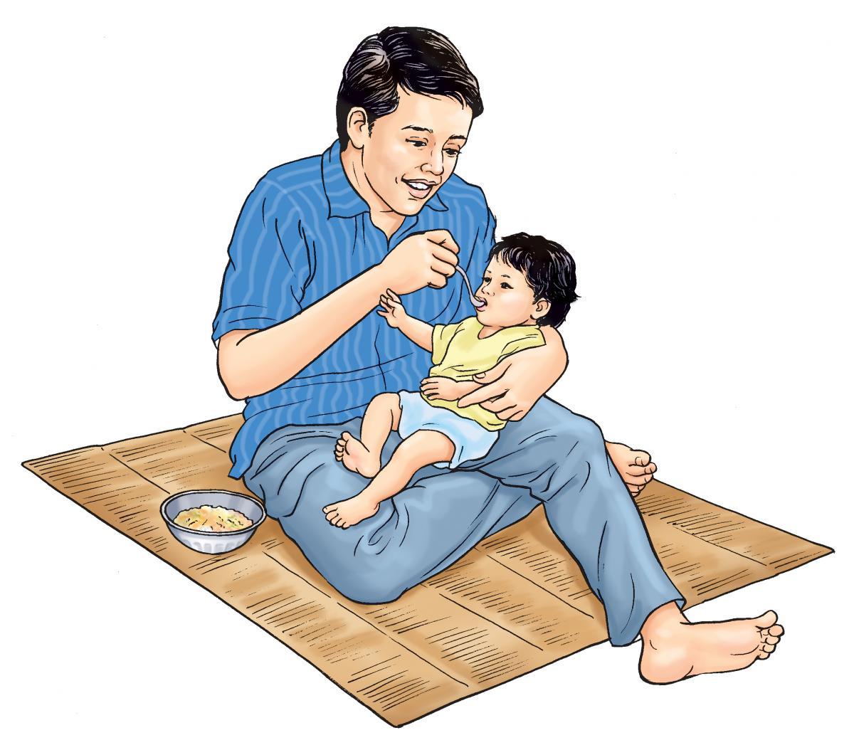 Complementary feeding - Complementary feeding at 6 months 6 months - 02 - Nepal