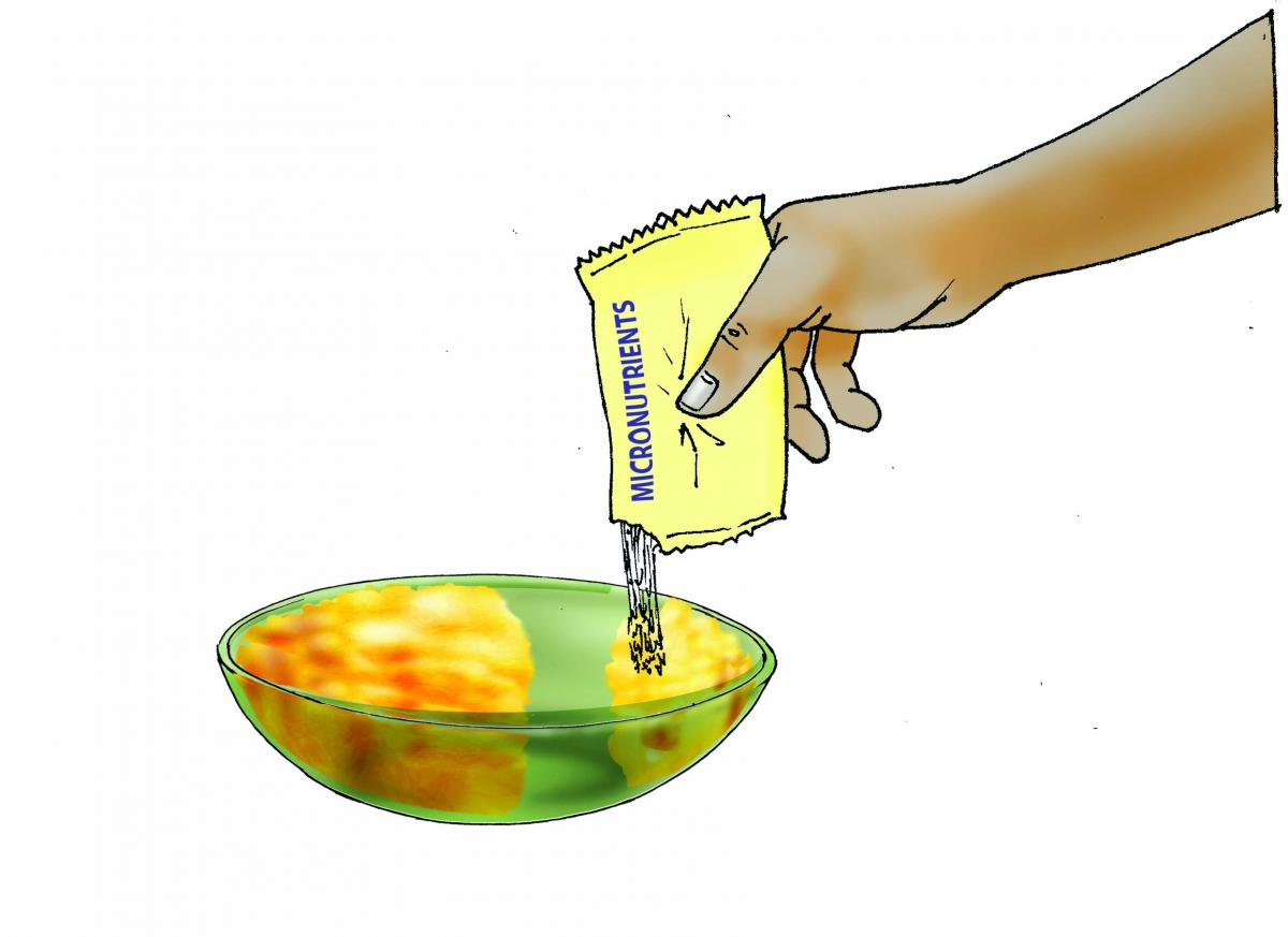 Complementary Feeding - Adding micronutrient powder to complementary foods - 03B - Non-country specific