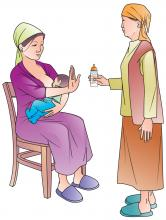 Breastfeeding - No water during breastfeeding - Mother and grandmother 0-6 mo - 01A - Kyrgyz Republic
