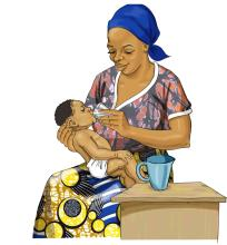 Breastfeeding - Giving water to a baby under six months will increase risk of malnutrition 0-6mo - 03 - Burkina Faso