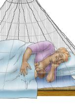 Malaria - Mother breastfeeding under mosquito net - 07 - Non-country specific