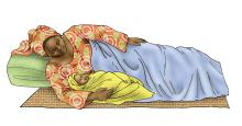 Malaria - Mother and child sleeping - 01 - Non-country specific