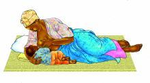 Breastfeeding - Breastfeeding positions - Side Lying 0-6 mo - 02 - Unknown