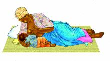 Breastfeeding - Breastfeeding positions - Side Lying 0-6 mo - 02 - Unknown
