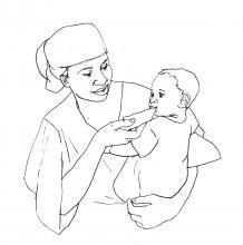Sick Baby Health Care - Mother feeding sick baby - 00 - Non-country specific