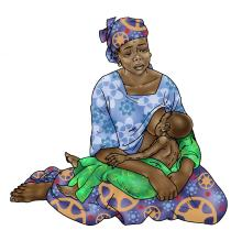 Sick Baby Nutrition - Mother breastfeeding sick baby 0-24 mo - 01 - Niger