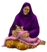 Maternal nutrition - Malnourished mother breastfeeding - 01 - Nigeria