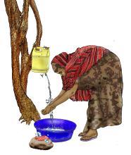 Sanitation - Woman washing hands - 06 - Kenya Dadaab