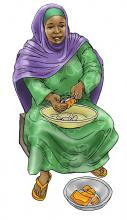 Food practices - Woman preparing food - 01 - Kenya Dadaab
