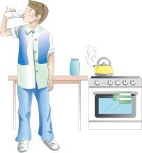 Hygiene - Boy drinking treated water  - 09 - Kyrgyz Republic