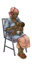 Breastfeeding - Exclusive breastfeeding - sitting 0-6 mo - 00A - Uganda