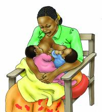 Breastfeeding - Breastfeeding positions 6-9 mo - 04B - Non-country specific