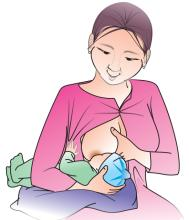 Breastfeeding - Breastfeeding positions - Football hold 0-24mo - 05 - Kyrgyz Republic