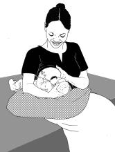 Breastfeeding - Breastfeeding positions 0-6 mo - 02 - Non-country specific