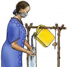 Cup Feeding - Woman washing hands - 00 - COVID