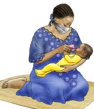 Cup Feeding - Cup feeding baby with infant formula - 05 - COVID