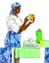HIV - Preparing infant formula 0-24 mo - 01 - Tanzania