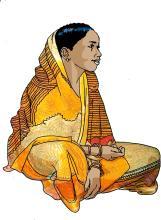 People - Young woman in sari - 05B - India