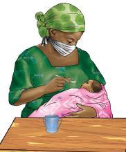 Cup Feeding - Grandmother cup feeding - 05 - COVID