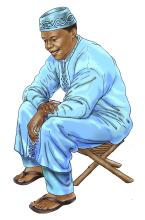 Father Support - Father sitting down - 01B - Niger