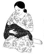 Breastfeeding - Exclusive breastfeeding - kneeling - 0-6 mo - 00 - Non-country specific