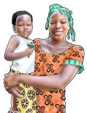 People - Mother and child 12-24 mo - 00 - Guinea