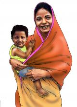 People - Mother and child 12-24 mo - 00 - India