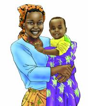 People - Mother and Child 6-12 mo - 00B - Nigeria