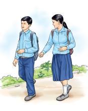People - Adolescents walking to school - 01B - Nepal