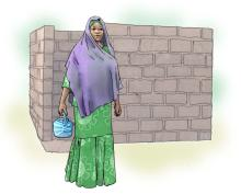 Family - Mother with water jug - 00 - Niger