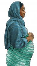 Maternal health - When to visit the health clinic - pregnancy - 08A - Kenya Dadaab