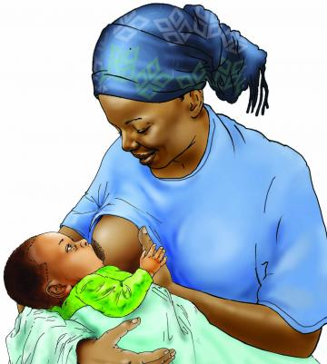 Breastfeeding - Breastfeeding good attachment 0-6 mo - 06E - Niger