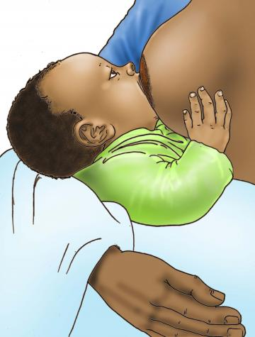 Breastfeeding - Breastfeeding good attachment 0-6 mo - 06E - Nigeria